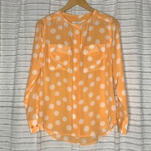 Equipment Lynn Long Sleeve Blouse Silk Floral XS
